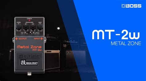 BOSS MT-2W Metal Zone Sound Examples - YouTube