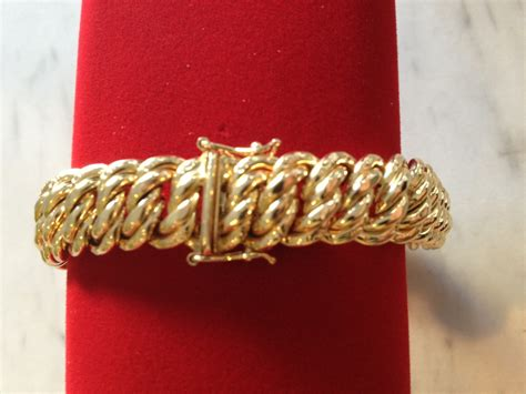 Bracelet maille americaine or 750, 18 carats poids 18,30 g