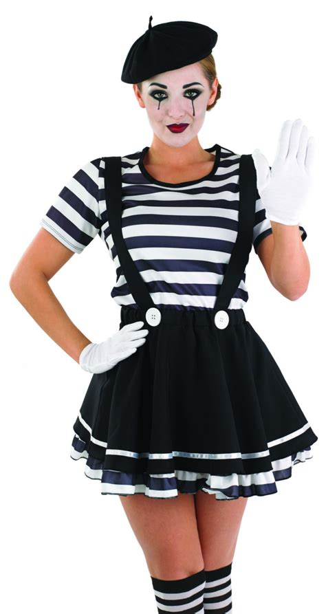 Ladies French Mime Street Artiste costume