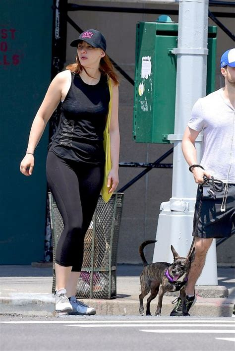 ERIN DRAKE and Daniel Radcliffe Out with Their Dog in New