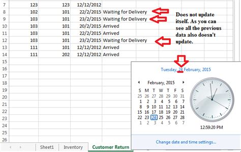 Excel VBA automatically updating columns (Date) - Stack