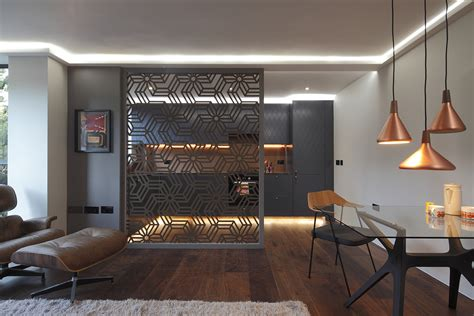 Laser cut room divider - London - Miles and Lincoln
