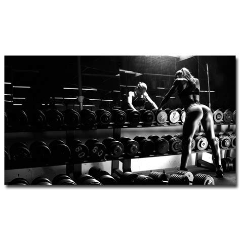 Sexy Bodybuilding Girl Motivational Quote Art Silk Poster