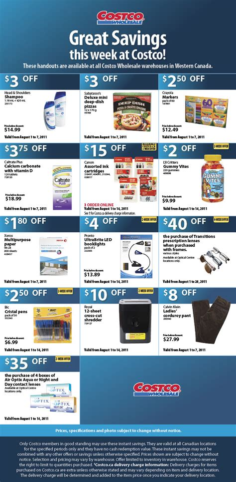 Costco: Weekly Handout Instant Savings Coupons (Aug 1-7