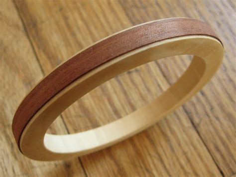 Two Tone Wood Bangle Bracelet - How Did You Make This