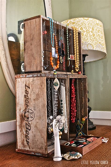 Quick Idea: Wooden Crate Jewelry Display — Little Yellow Couch