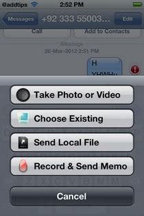 Attacher: Send/ Receive Any Type Of File As iMessage