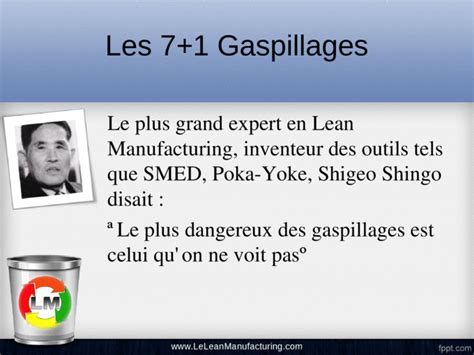 Les 7 Gaspillages (Muda) - [PPT Powerpoint]