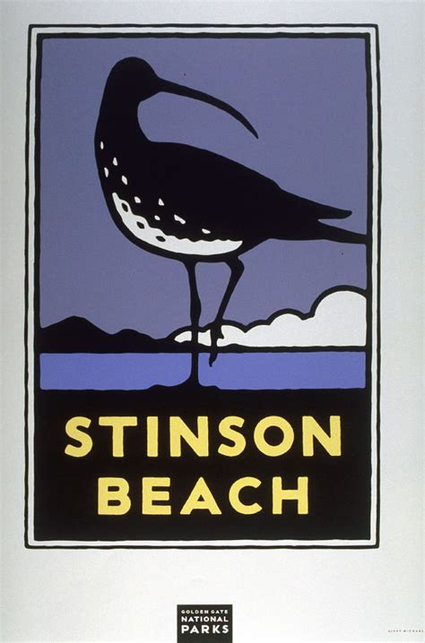 Stinson Beach,from a series of posters for the Golden Gate