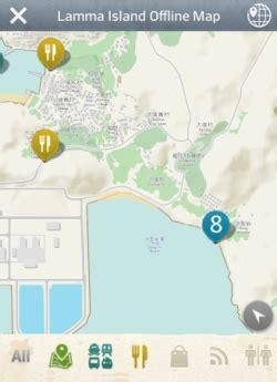 The mobile app features offline map to save the data