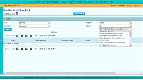 Student Exams & Results   iWeb IUMS :: FREE ERP - Cloud