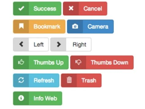 Bootstrap Buttons Examples